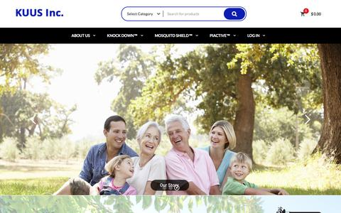 Screenshot of Home Page kuusinc.com - KUUS Inc. – Value added Family products. - captured Sept. 20, 2018