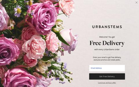Screenshot of Products Page urbanstems.com - Valentine's Day Flowers | Valentine's Delivery | UrbanStems - captured Feb. 12, 2019