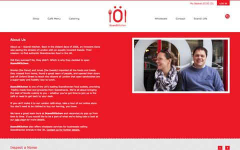 Screenshot of About Page scandikitchen.co.uk - About Us - ScandiKitchen - captured Sept. 19, 2014
