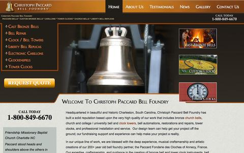 Screenshot of Testimonials Page christophpaccard.com - Christoph Paccard Bell Foundry|Bronze Cast Bells|Liberty Bell - captured Oct. 2, 2014