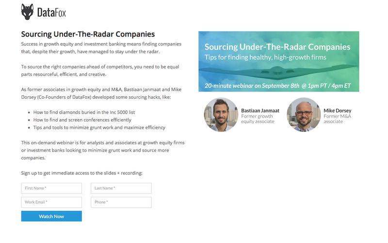 Sourcing Under-The-Radar Companies
