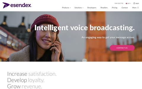Intelligent Voice Broadcasting Platform - Esendex UK
