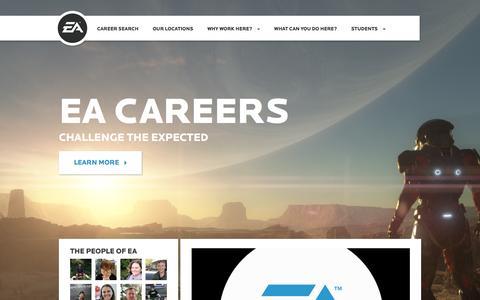 Screenshot of Jobs Page ea.com - Home | EA Careers - captured Nov. 28, 2015