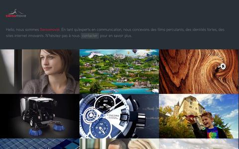 Screenshot of Home Page swissmovie.ch - Swissmovie :: motion picture company - captured Oct. 6, 2014