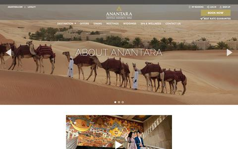 Screenshot of About Page anantara.com - Luxury Hotel Group | About Anantara | Resort Hotels & Spas - captured April 29, 2018