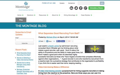 Screenshot of Blog montagetalent.com - Montage: Online Video Interviewing | Blog - captured Sept. 16, 2014
