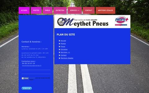 Screenshot of Site Map Page meythetpneus.fr - Meythet Pneus - Accueil - captured Feb. 10, 2016