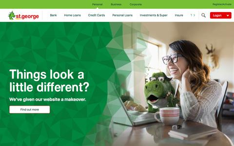 Screenshot of Home Page stgeorge.com.au - Personal Banking | St.George Bank - captured Sept. 4, 2017