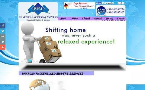 Screenshot of Services Page bhargavpackersnmovers.com - Best packers and movers Udaipur,Jaisalmer, Top Packers and Movers udaipur Jaisalmer, Corporate Relocation Jaisalmer - captured Oct. 5, 2014