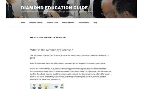 What is the Kimberley Process? - Diamond Education Guide