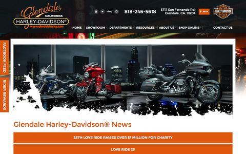 Screenshot of Press Page glendaleharley.com - All News Articles   Glendale Harley-Davidson® California - captured Oct. 27, 2016