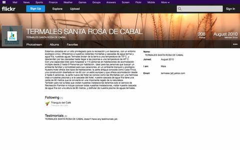 Screenshot of Flickr Page flickr.com - Flickr: TERMALES SANTA ROSA DE CABAL - captured Oct. 25, 2014