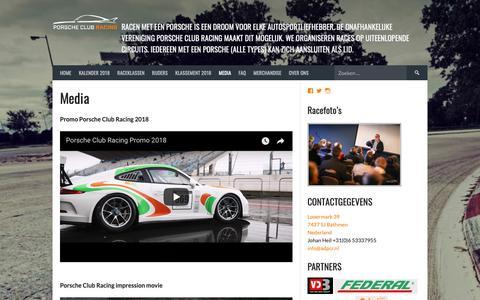 Screenshot of Press Page adpcr.nl - Media - Porsche Club Racing - captured Oct. 3, 2018