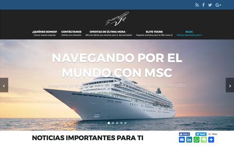 Screenshot of Blog viajesandromeda.com - Blog - Viajes Andromeda - captured Oct. 8, 2017
