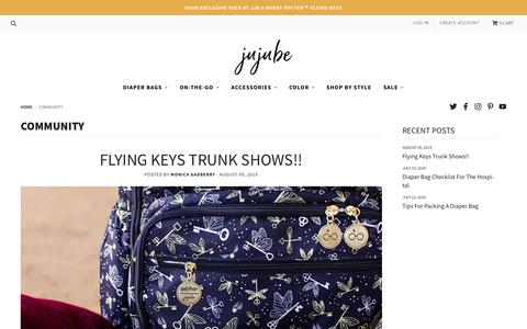 Screenshot of Blog jujube.com - Join the JuJuBe Family | Advice & Tips from Moms & Dads | Learn More - captured Aug. 16, 2019