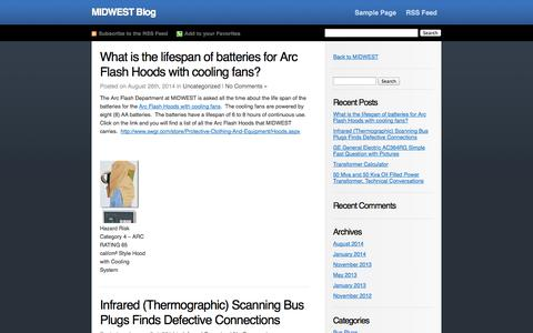 Screenshot of Blog swgr.com - MIDWEST Blog - captured Oct. 3, 2014
