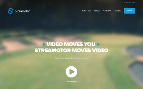 Screenshot of Home Page Terms Page streamotor.com - Online Video Platform - OTT - Roku - LIVE Streaming - Video Production - captured Dec. 12, 2018