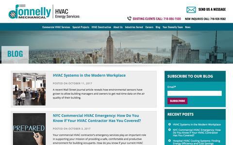 Screenshot of Blog donnellymech.com - Blog   Donnelly Mechanical - captured Oct. 12, 2017