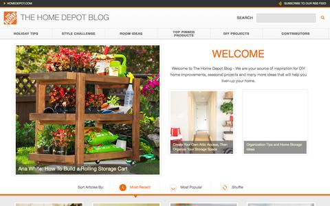 Screenshot of Blog homedepot.com - The Home Depot - captured Jan. 14, 2016