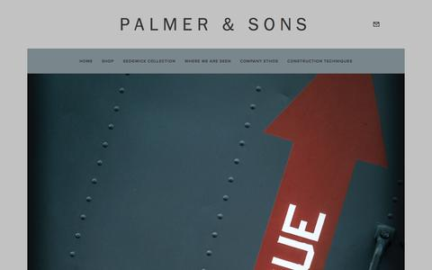 Screenshot of Contact Page palmerandsons.ca - Contact Us — Palmer & Sons - captured Jan. 25, 2016