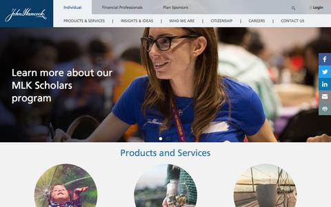 Screenshot of Home Page johnhancock.com - Homepage | John Hancock - captured July 7, 2017