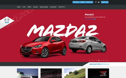 Screenshot of Home Page mazda.com.au - Mazda Australia – Reviews, Offers, Dealerships – ZoomZoom - captured Feb. 12, 2016