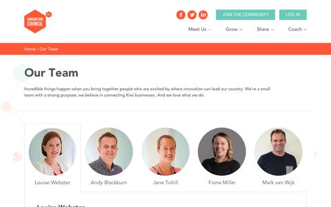 Screenshot of Team Page innovationcouncil.org.nz - Team | Meet the People Behind the NZ Innovation Council - captured Oct. 22, 2017