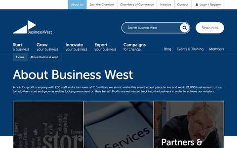 Screenshot of About Page businesswest.co.uk - About Business West | Business West - captured June 3, 2017