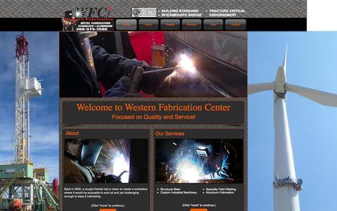 Screenshot of Home Page westernfab.com - wfab - captured Oct. 7, 2014