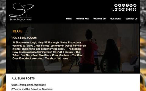 Screenshot of Blog simbaproductions.net - Blog | Simba Productions -  New York City - NYC Video Production | Post Production | Editing | Music Video Production | Video Services | Videography | HD Video | HD Video Editing | Actor Reels | Actor Demo Reels | Video Recording Services | Branding  - captured Oct. 26, 2014