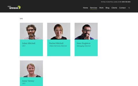 Screenshot of Team Page digitalannexe.com - Our team - Digital Annexe - captured Jan. 7, 2016
