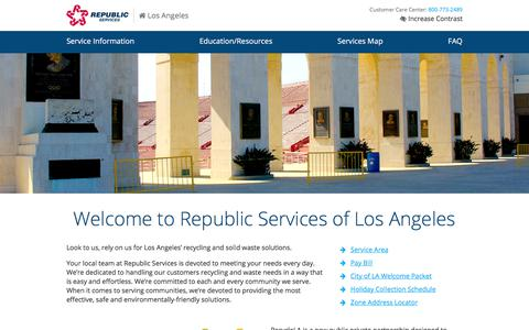 Los Angeles Waste & Recycling | Republic Services