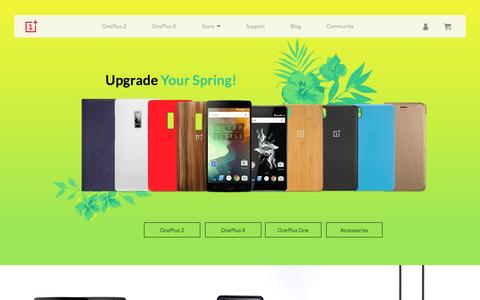 Screenshot of Home Page oneplus.net - Never Settle - OnePlus.net - captured April 16, 2016