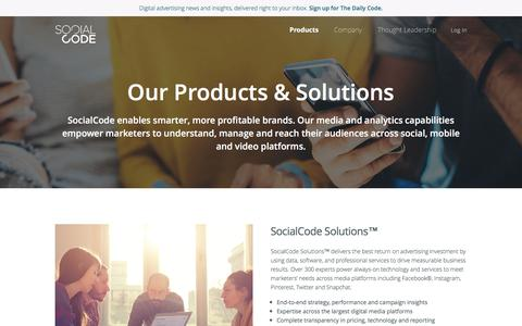 Solutions | SocialCode - Social Ad Technology and Managed Service
