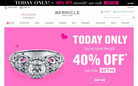 Sterling Silver Jewelry & Cubic Zirconia CZ Jewelry | Berricle
