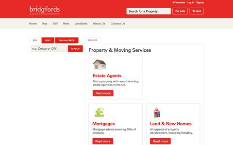 Screenshot of Services Page bridgfords.co.uk - View our range of services available from home insurance to mortgages plus much more - captured May 27, 2016