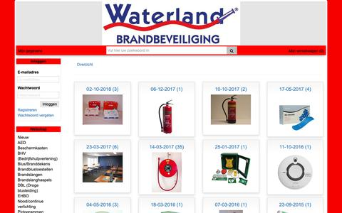 Screenshot of Products Page wb.nl - Webshop Waterland Brandbeveiliging - captured Oct. 20, 2018