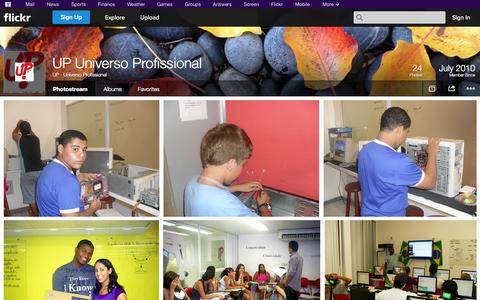 Screenshot of Flickr Page flickr.com - Flickr: UP - Universo Profissional's Photostream - captured Oct. 23, 2014