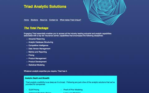 Screenshot of Services Page triadanalytic.com - Triad Analytic Solutions - What can Triad do for You? - captured Oct. 7, 2014