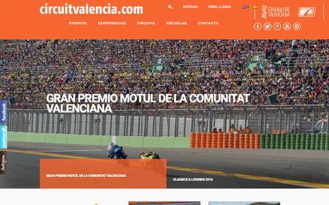 Screenshot of Home Page circuitvalencia.com - CircuitValencia - captured Jan. 28, 2016