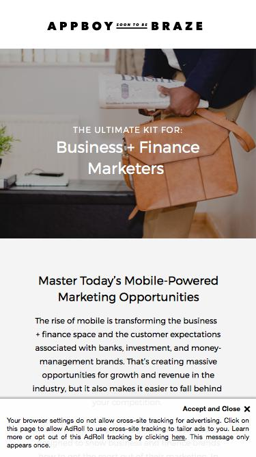 Business + Finance Marketing | Appboy