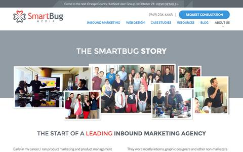 Screenshot of About Page smartbugmedia.com - Leading Inbound Marketing Agency   About SmartBug Media   Our Team - captured Oct. 22, 2015