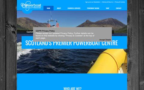 Screenshot of Home Page ipowerboat.co.uk - Home   Scotland's Powerboat Training Centre     iPowerboat   RYA Training - captured Nov. 26, 2018