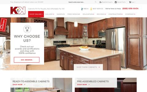 Screenshot of Home Page kitchencabinetkings.com - Discount Kitchen Cabinets Online | RTA Cabinets at Wholesale Prices - captured Sept. 28, 2017