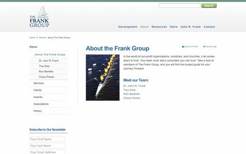 Screenshot of About Page johnrfrank.com - About The Frank Group - The Frank Group - captured Oct. 6, 2014