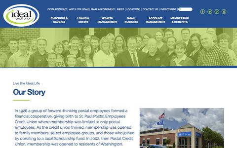 Screenshot of About Page idealcu.com - About Ideal Credit Union | MN Credit Union - Ideal Credit Union - captured Oct. 14, 2017