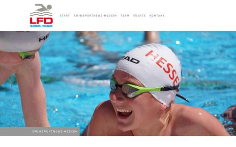 Screenshot of About Page lfd-swim-team.com - Impressum - LFD Swim-Team - captured July 6, 2018