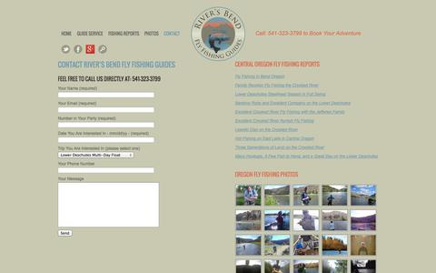 Screenshot of Contact Page riversbendflyfishing.com - Contact River's  Bend Fly Fishing Guides - captured Oct. 7, 2014