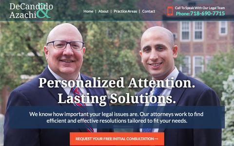 Screenshot of Home Page nylawadvisors.com - Trust and Estate Planning | Forest Hills, NY | William V. Decandido, PC - captured Nov. 15, 2018