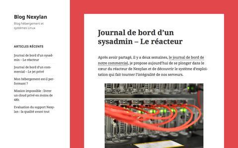 Screenshot of Blog nexylan.com - Blog Nexylan - captured June 22, 2017
